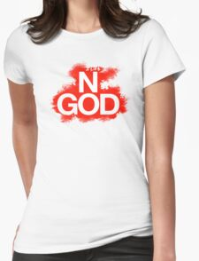NO GOD Womens Fitted T-Shirt