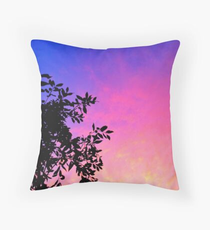 Woodstock silhouette Throw Pillow