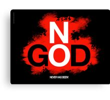 NO GOD Canvas Print