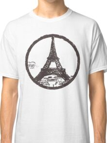 Eiffel Tower Peace Sign Classic T-Shirt