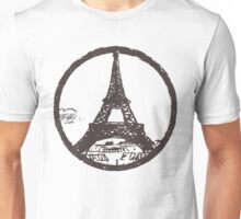 Eiffel Tower Peace Sign Unisex T-Shirt