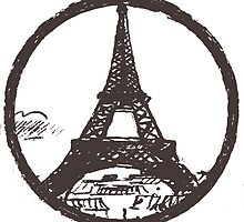 Eiffel Tower Peace Sign by junkydotcom