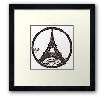 Eiffel Tower Peace Sign Framed Print