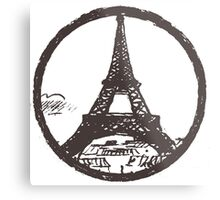 Eiffel Tower Peace Sign Metal Print