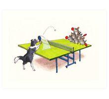 Chinchilla Ping Pong Art Print