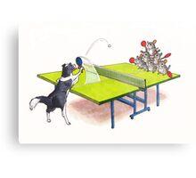 Chinchilla Ping Pong Metal Print