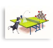 Chinchilla Ping Pong Canvas Print
