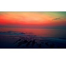 Sunset Surf Session Photographic Print