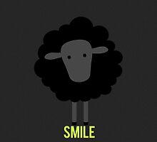 Smile little black sheep by Blacksheepmark