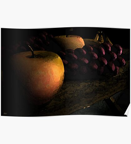 Tray of Fruit Poster