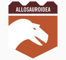 Dinosaur Family Crest: Allosauroidea by David Orr