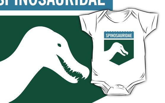 Dinosaur Family Crest: Spinosauridae by David Orr