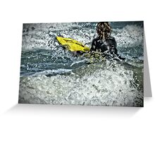 The Boogie Boarder Greeting Card