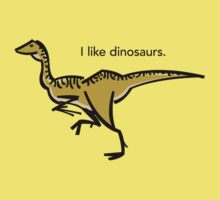I like dinosaurs: Gallimimus Kids Clothes