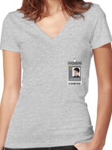 Torchwood Jack Harkness ID Shirt Women's Fitted V-Neck T-Shirt