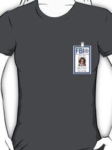 X-Files Dana Scully ID Badge Shirt T-Shirt