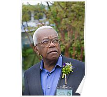 Sir Trevor McDonald OBE at the RHS Chelsea flower show 2012 Poster