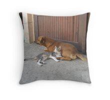Enjoyment_Martinove mace Throw Pillow