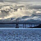 Winter Storm Beyond the Bridge by jacqi