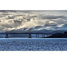 Winter Storm Beyond the Bridge Photographic Print