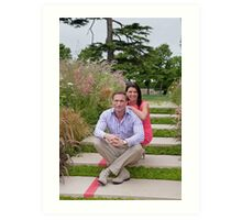 Dr Christian Jessen and Dr Dawn Harper at the RHS Hampton Court Palace flower show 2012. Presenters from the Embarrassing bodies tv programme. Art Print