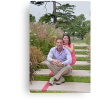 Dr Christian Jessen and Dr Dawn Harper at the RHS Hampton Court Palace flower show 2012. Presenters from the Embarrassing bodies tv programme. Metal Print