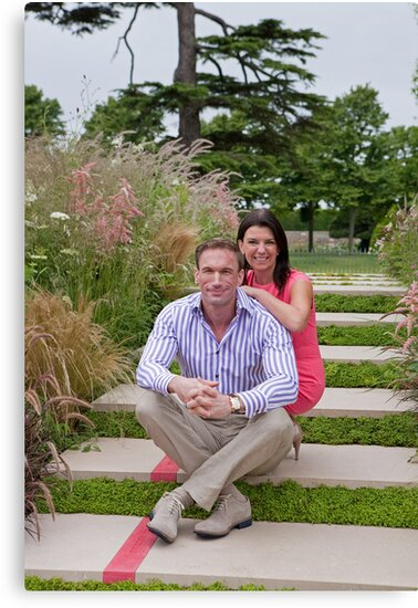Dr Christian Jessen and Dr Dawn Harper at the RHS Hampton Court Palace flower show 2012. Presenters from the Embarrassing bodies tv programme. by Keith Larby