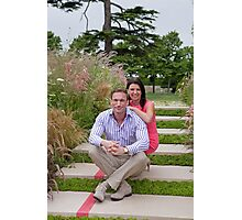Dr Christian Jessen and Dr Dawn Harper at the RHS Hampton Court Palace flower show 2012. Presenters from the Embarrassing bodies tv programme. Photographic Print
