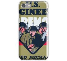 US Engineers Foremost Skilled mechanics technical specialists iPhone Case/Skin