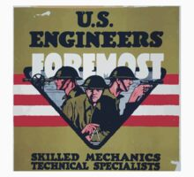 US Engineers Foremost Skilled mechanics technical specialists Kids Tee