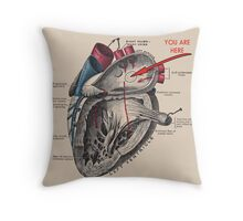 You Are Here <3 Throw Pillow