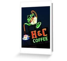 Neon H & C Coffee Greeting Card