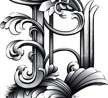 Baroque Rococo Detroit D by EMG Graphic Art