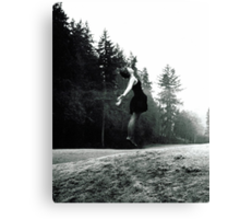 Intrigue - Black and White Print Canvas Print