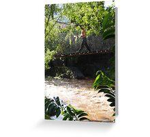 Jungle Bridge - Puente De La Selva Greeting Card