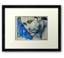 Rob Lowe, featured in Art Universe Framed Print