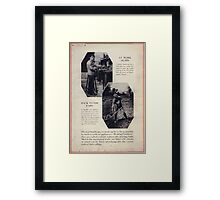 At work again Back to the farm Framed Print