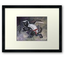 Ninja Honey Badger Framed Print