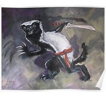 Ninja Honey Badger Poster