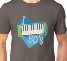 I Heart 80's Synth - Blue Unisex T-Shirt