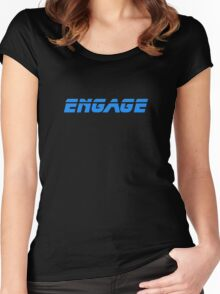 Star Trek - Engage - Captain Picard T-Shirt Women's Fitted Scoop T-Shirt