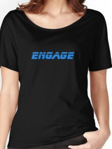 Star Trek - Engage - Captain Picard T-Shirt Women's Relaxed Fit T-Shirt