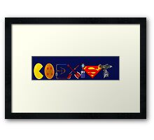 Coexist 2.0 Framed Print