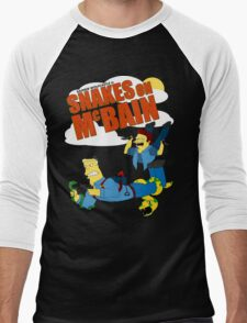 Snakes on McBAIN Men's Baseball ¾ T-Shirt