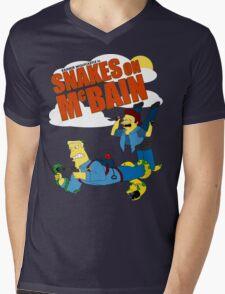 Snakes on McBAIN Mens V-Neck T-Shirt