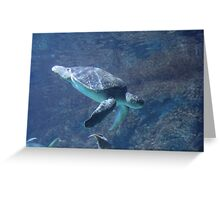 """Sea Turtle""  by Carter L. Shepard Greeting Card"