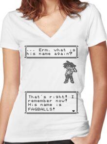 Gary Oak. Women's Fitted V-Neck T-Shirt