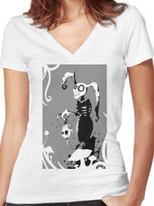 A white rabbits dream. Women's Fitted V-Neck T-Shirt
