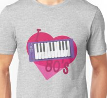 I Heart 80's Synth - Pink Unisex T-Shirt
