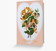 Thank You with Honeysuckle Greeting Card